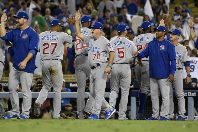 Les Cubs de Chicago l'ont emporté 8-4 contre... (Photo Richard Mackson, USA Today Sports)