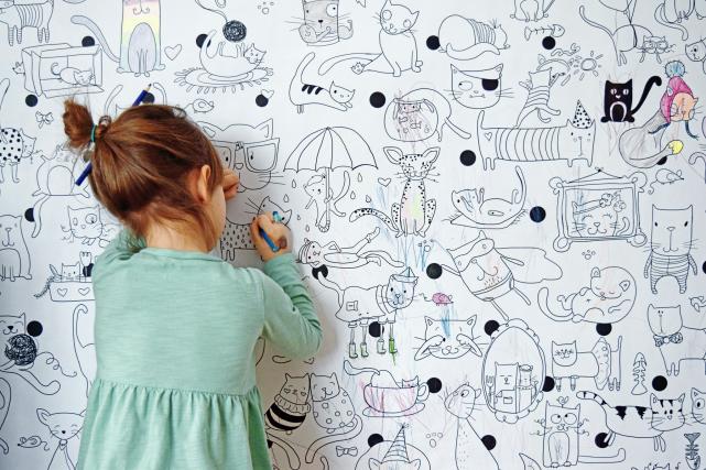 Combien de fois avez-vous répété à vos enfants de ne pas colorier sur les murs?...