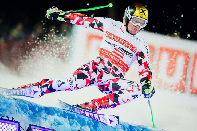 Marcel Hirscher... (Photo Jonathan Nackstrand, AFP)