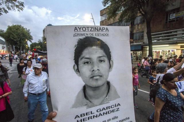 La disparition des 43étudiants avait provoqué en 2014... (PHOTO HECTOR GUERRERO, ARCHIVES AFP)
