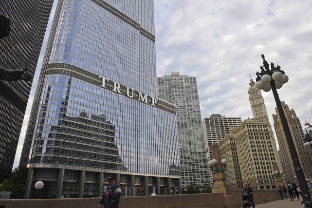 La tour Trump de Chicago. Les appartements de luxe... (AFP, Nova Safo)
