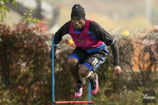 Didier Drogban'a participé à aucune séance d'entraînement depuis... (Photo Olivier Jean, La Presse)