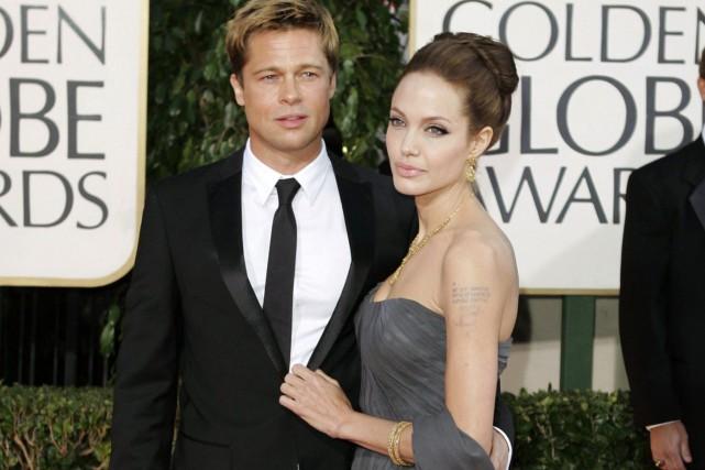 Le couple de stars, surnommé «Brangelina», s'est marié... (Photo AP)