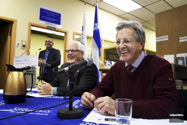 Serge Simard et Jean Tremblay... (Photo Le Quotidien, Rocket Lavoie)