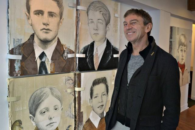 Louis Boudreault présente des portraits, enfants, de gens... (Le Soleil, Patrice Laroche)