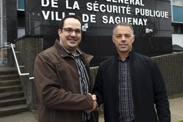 Dominic Doré et Jean-Franvçois Imbeau... (Photo Le Progrès-dimanche, Rocket Lavoie)