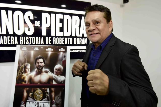 L'ancien boxeur Roberto Duran lors de la première... (AFP, Alfredo Estrella)