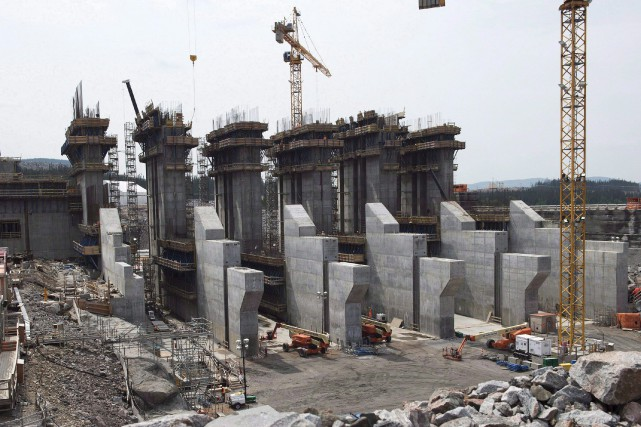 Le chantier de Muskrat Falls.... (Photo La Presse Canadienne)