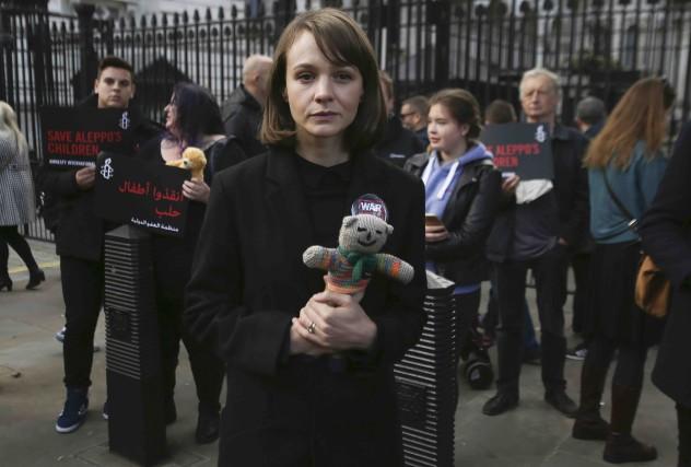 L'actrice britannique Carey Mulligan s'est jointe à un... (AFP, Daniel Leal-Olivas)