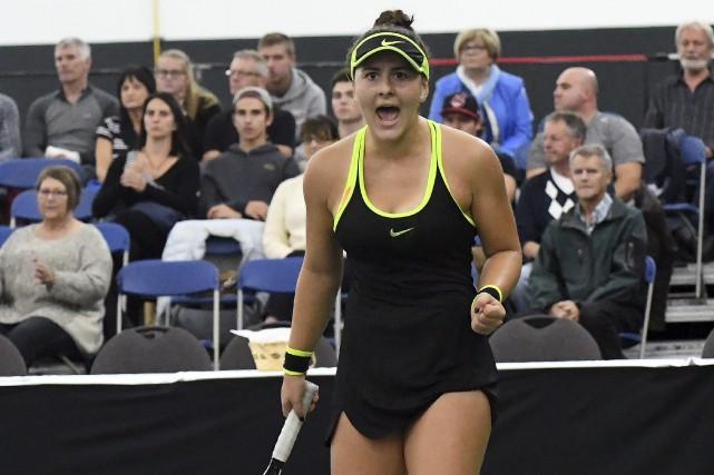 Bianca Vanessa Andreescu... (Photo Le Progrès-dimanche, Rocket Lavoie)