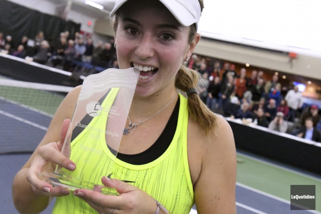 Catherine Bellis a battu Bianca Vanessa Andrescu en... (Photo Le Quotidien, Michel Tremblay)