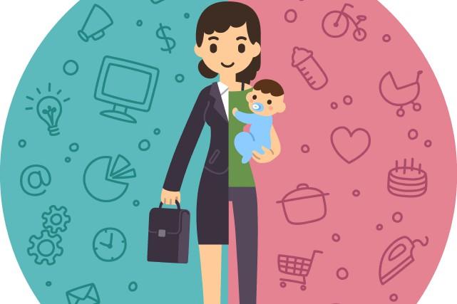 Travail et enfants en bas âge sont difficiles à conjuguer avec épanouissement... (123RF/sudowoodo)