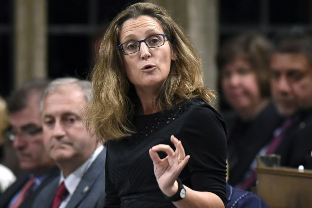 La ministre canadienne du Commerce international, Chrystia Freeland,... (La Presse canadienne, Justin Tang)