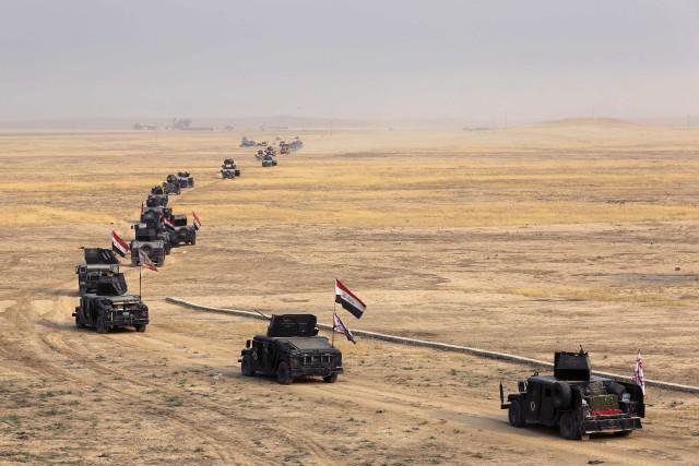 «Après une semaine d'opération sur Mossoul, tous les... (AP)