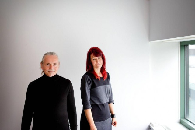 Krzysztof Wodiczko et Isabelle Hayeur étaient, en 2014,... (Photo Marco Campanozzi, La Presse)