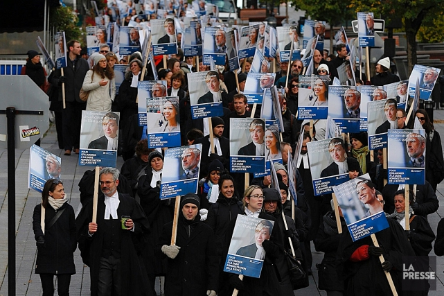 Les 1100 avocats et notaires du gouvernement du... (Patrick Sanfaçon, La Presse)
