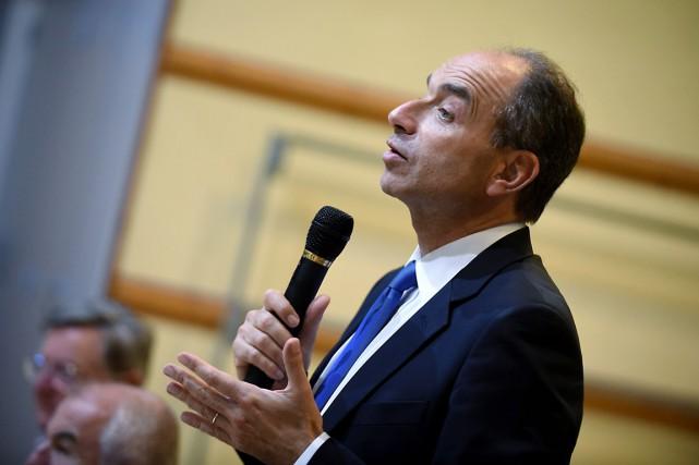 Jean-François Copé espère remporter la primaire de la... (photo JEAN PIERRE CLATOT, archives AFP)