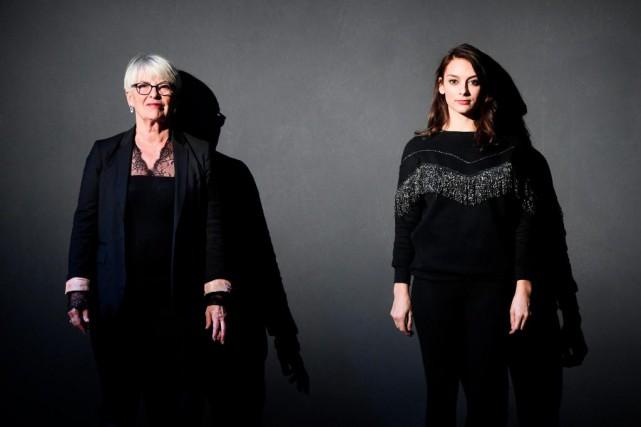 Brigitte Haentjens dirigeSophie Desmarais dans une adaptationd'Une femme... (Photo Bernard Brault, La Presse)