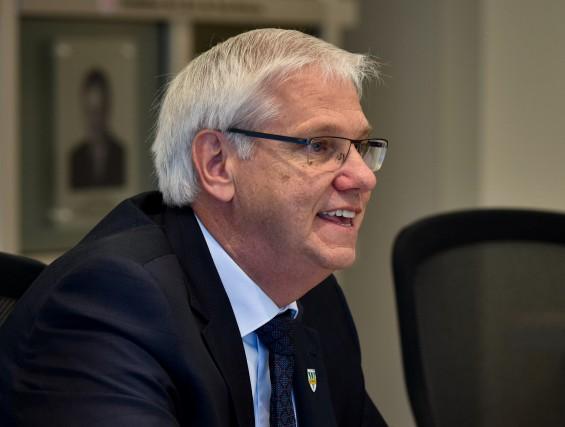 Le recteur de l'UQTR Daniel McMahon-Photo: Francois Gervais...