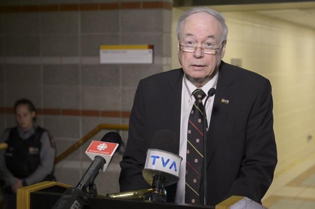Le recteur de l'Université Laval, Denis Brière... (Image tirée d'une vidéo)