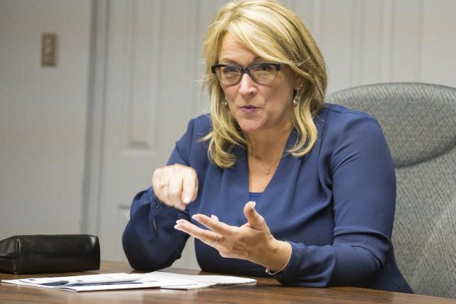La vice-première ministre du Québec, Lise Thériault a... (Spectre Média, Marie-Lou Béland)