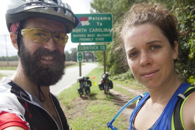 Mathieu Massé et Isabelle Bergeron parcourent les ɉtats-Unis... (Fournie)