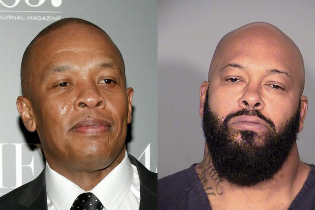Marion «Suge» Knight (à droite) a accusé Dr.... (Photo AP, Reuters)