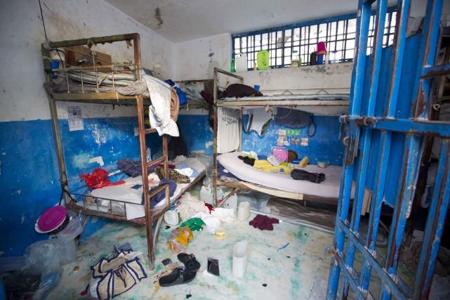 Samedi dernier,173 détenus, dont certains considérés dangereux,se sont... (AP, Dieu Nalio Chery)