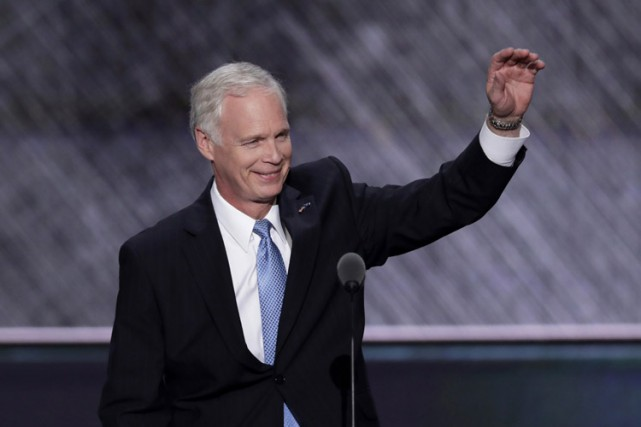 Ron Johnson lors de la Convention républicaine à... (PHOTO AP)