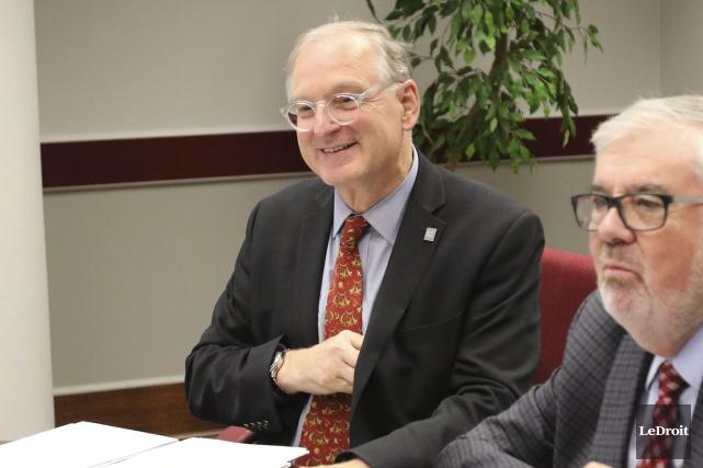 Le recteur de l'Université d'Ottawa, Jacques Frémont, durant... (Patrick Woodbury, LeDroit)