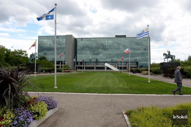 Au palais de justice de Québec, lundi, Philippe... (Photothèque Le Soleil, Erick Labbé)