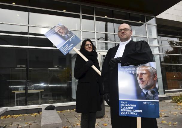 Les avocats et notaires de l'État québécois sont entrés en grève générale... (François Gervais)