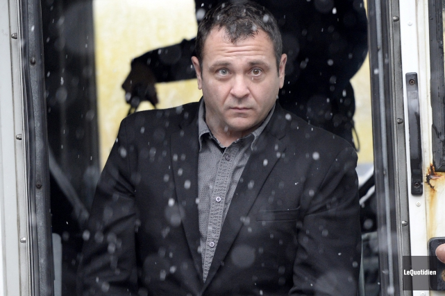 Yves Martin, à son arrivé au palais de... (Photo Le Quotidien, Jeannot Lévesque)