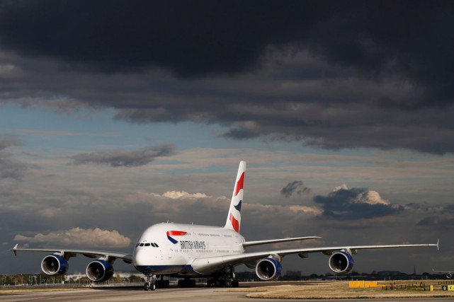 Un Airbus A380 de la British Airways....