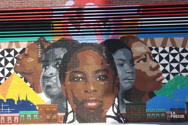 Un peu partout dans Harlem, sur des murales... (PHOTO SYLVIE ST-JACQUES, collaboration spéciale LA PRESSE)