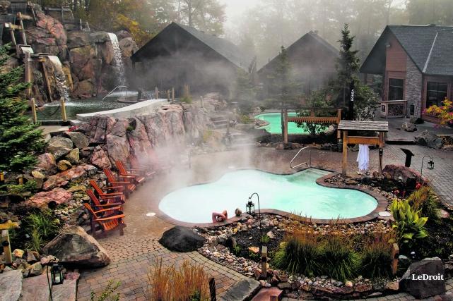 Bien ancré à Chelsea, le Nordik Spa‑Nature est une entreprise florissante.... (Patrick Woodbury, LeDroit)