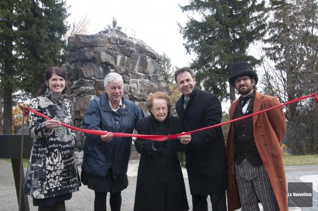 La réouverture du parc du Rocher a été... (Sylvain Mayer, Le Nouvelliste)