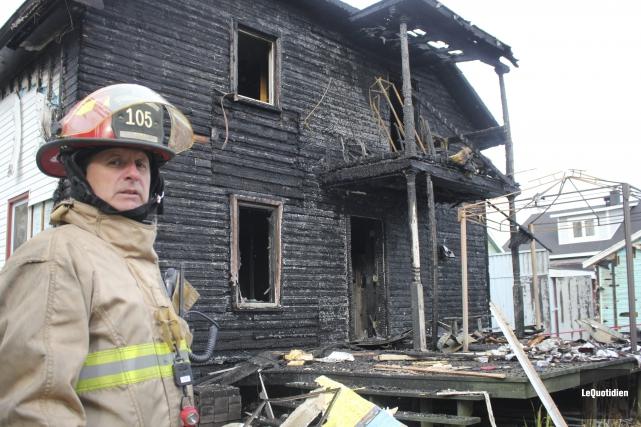 L'incendie a été rapidement contrôlé, a indiqué le... (Photo Le Quotidien, Isabelle Tremblay)