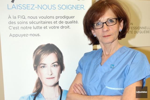 Martine Côté, présidente du Syndicat des professionnels en... (Archives Le Quotidien, Rocket Lavoie)