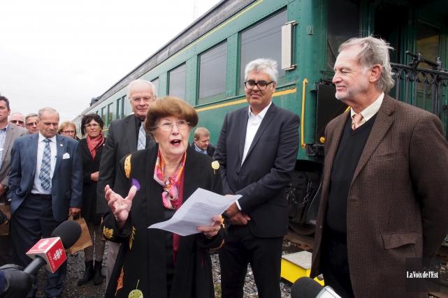 Un convoi ferroviaire a fait un arrêt à... (Archives La Voix de l'Est)