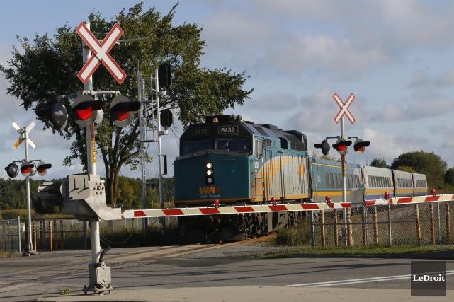 Le projet de train de passagers reliant Montréal et Sherbrooke, avec un arrêt... (Le Droit, archives)