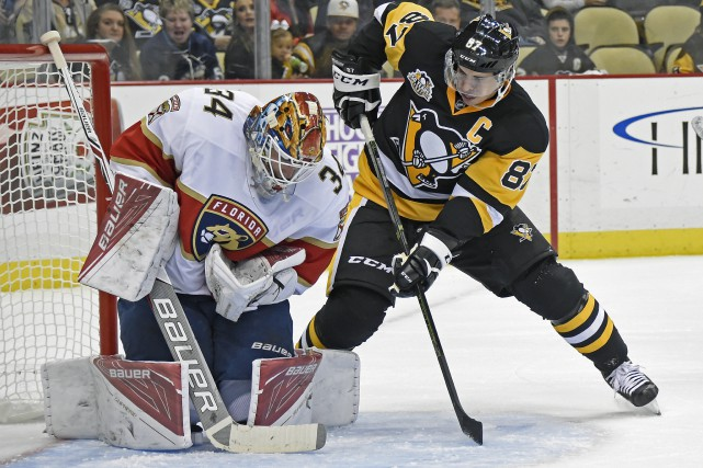 Sidney Crosby a touché la cible à son... (Fred Vuich, Associated Press)