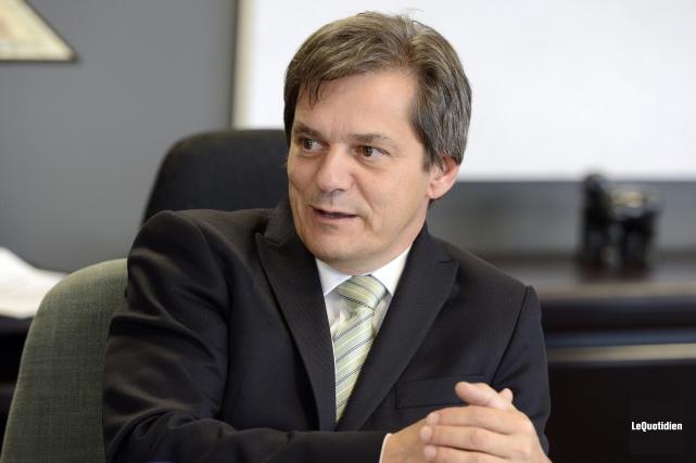 Le recteur de l'UQAC, Martin Gauthier, est actuellement... (Archives Le Quotidien, Jeannot Lévesque)