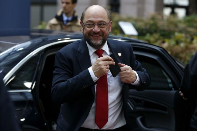 Le président du Parlement européen, Martin Schulz,aurait déclaré... (AP, Alastair Grant)