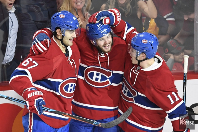 Max Pacioretty, Alex Galchenyuk et Brendan Gallagher... (Photo Bernard Brault, La Presse)