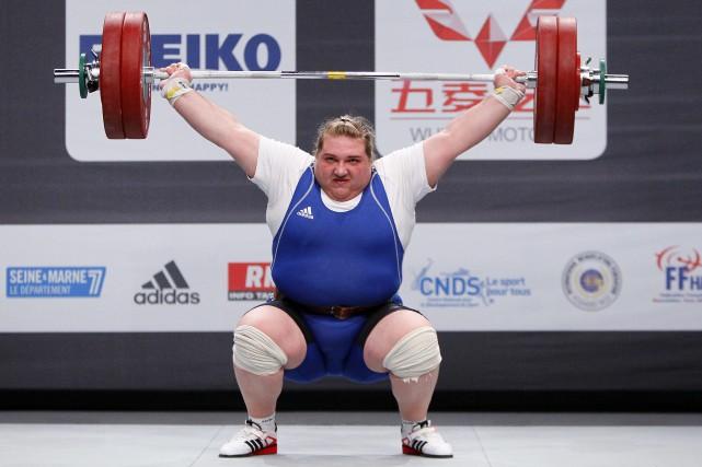 L'haltérophile ukrainienne Olha Korobka, médaillée d'argent aux Jeux... (Photo François Mori, AP)