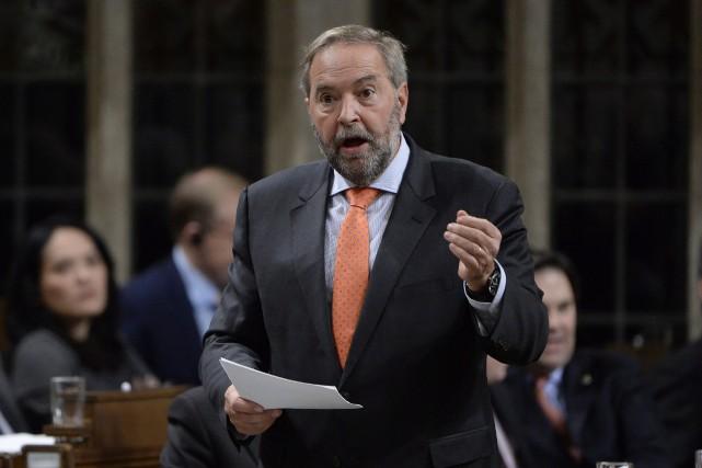 M. Mulcair a qualifié les 40 députés libéraux... (La Presse canadienne, Adrian Wyld)