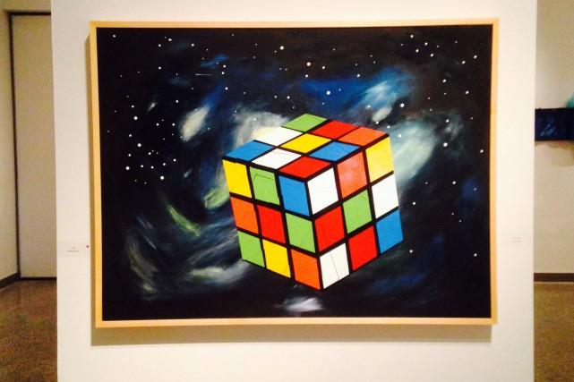 Ce tableau intitulé Espace temps a permis à... (Photo courtoisie)