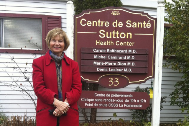 La résidente de Sutton Diane Ferland milite en... (Catherine Trudeau)