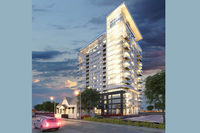 Le projet de condominiums de luxe Le Columbia surplombera la ferme... (Photo courtoisie)